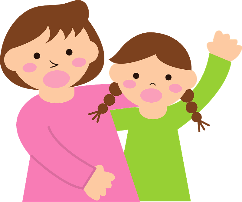 Mom and Baby clipart transparent 5
