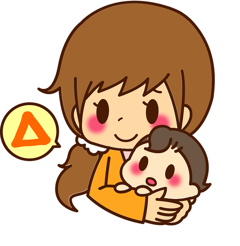 Mom and Baby clipart transparent 6