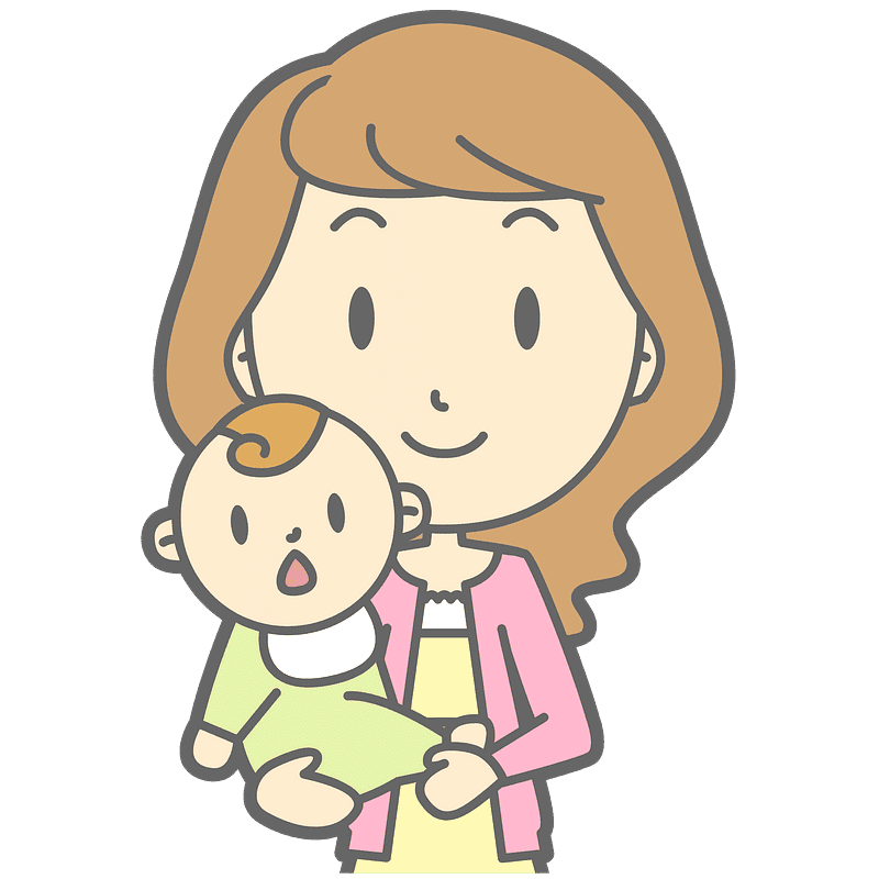 Mom and Baby clipart transparent 7