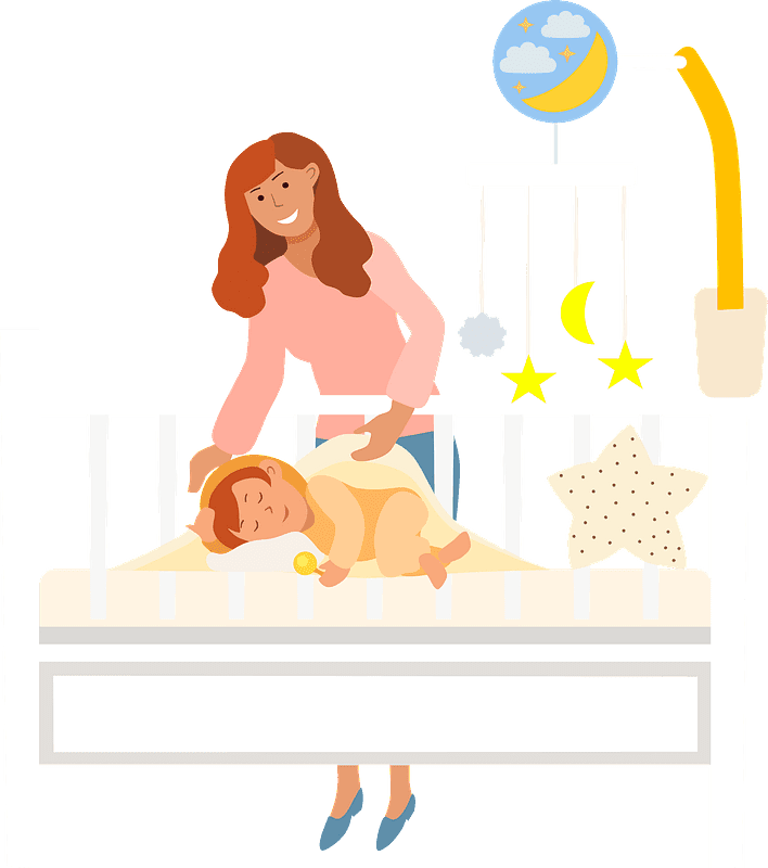 Mom and Baby clipart transparent