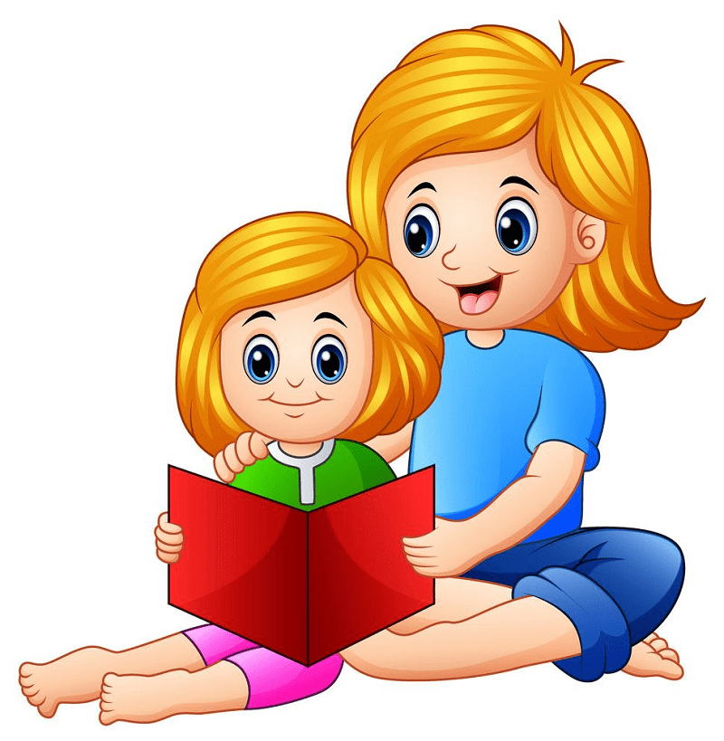 Mom and Daughter clipart 3