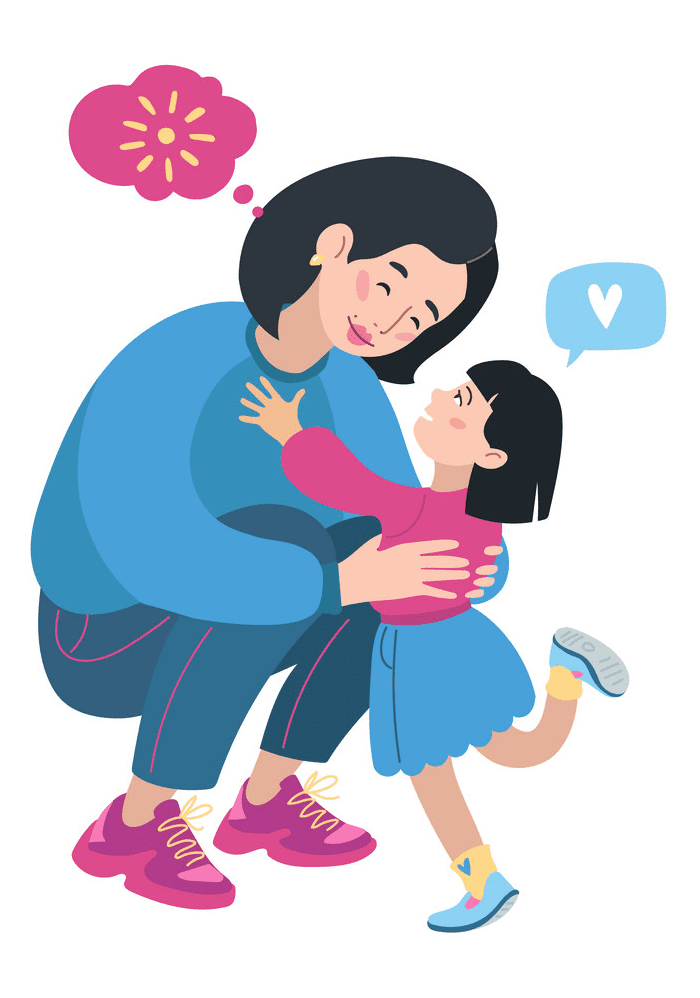 Mom and Daughter clipart download
