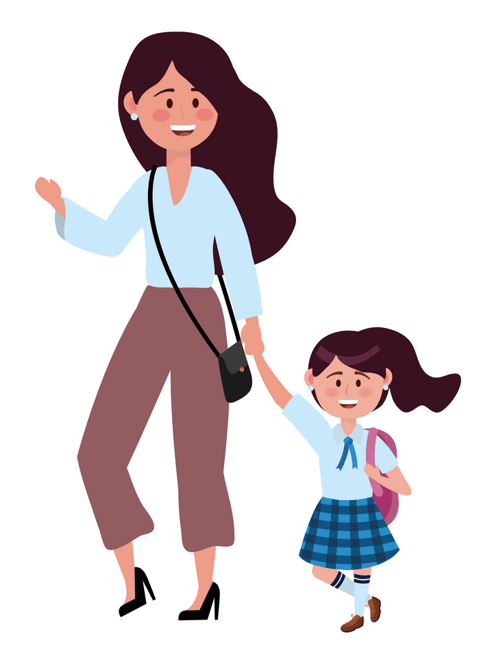 Mom and Daughter clipart image