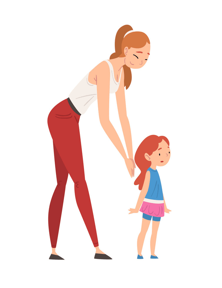 Mom and Daughter clipart images