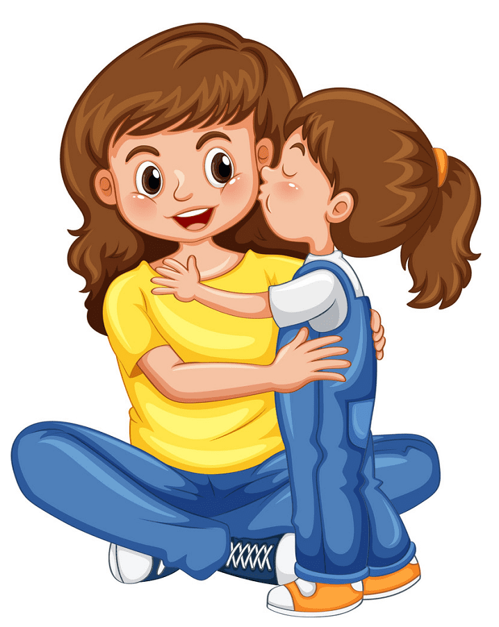 Mom and Daughter clipart png free