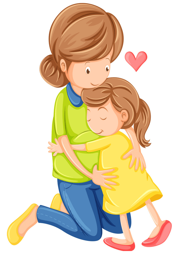 Mom and Daughter clipart png images