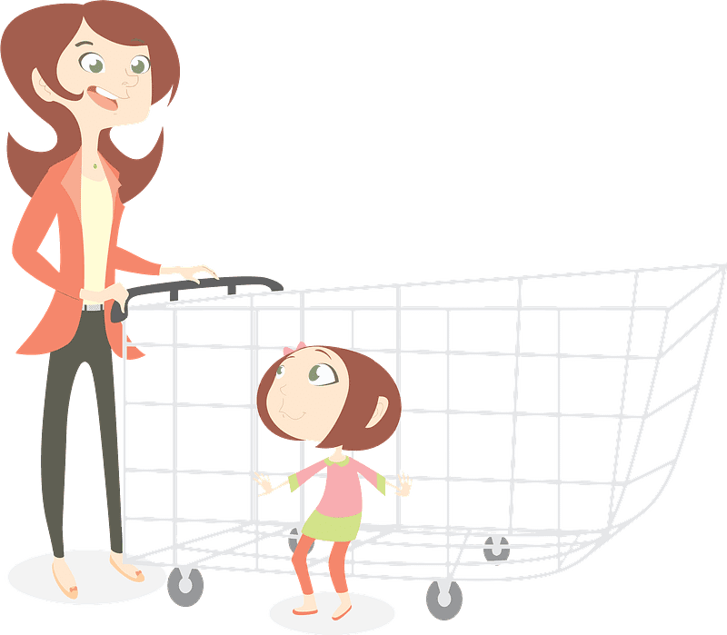 Mom and Daughter clipart transparent