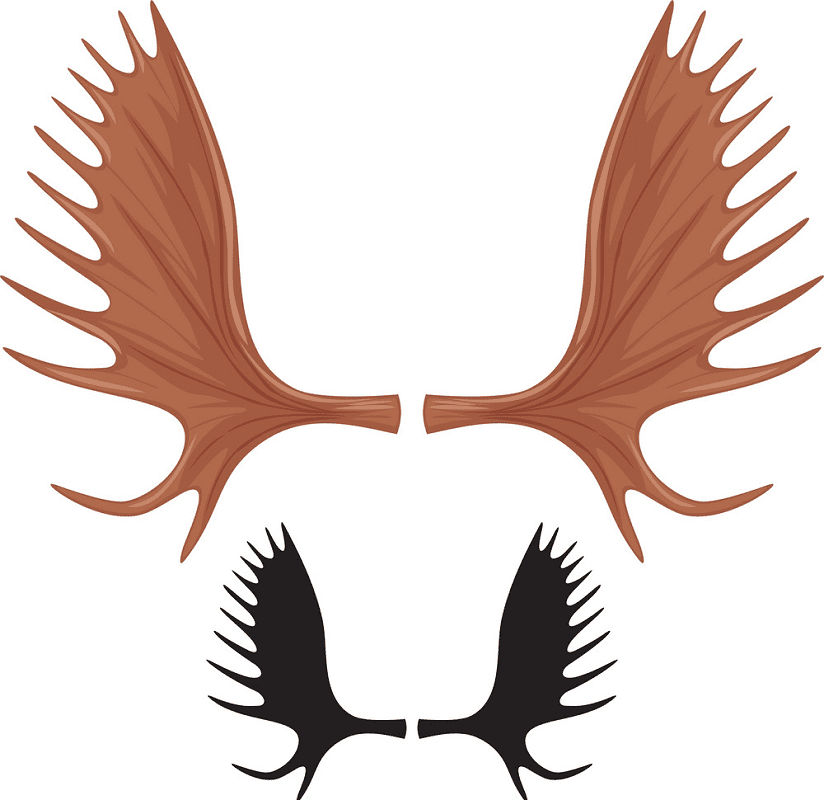 Moose Antlers clipart free