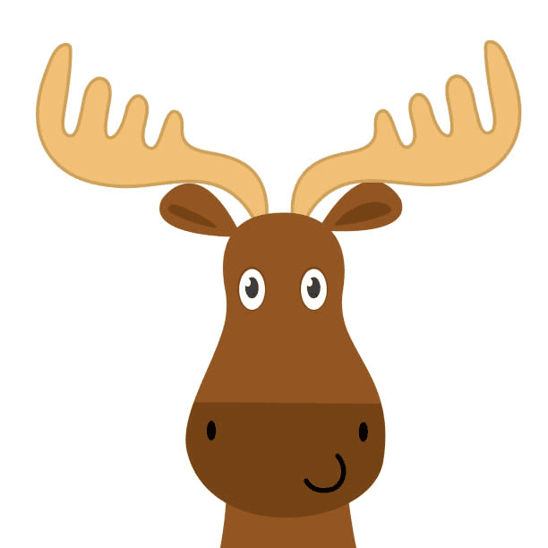 Moose Head clipart 1