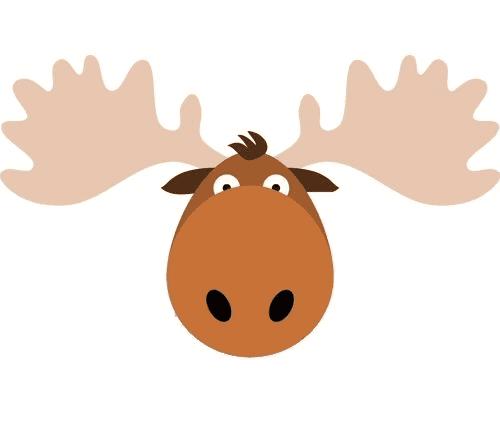Moose Head clipart 2