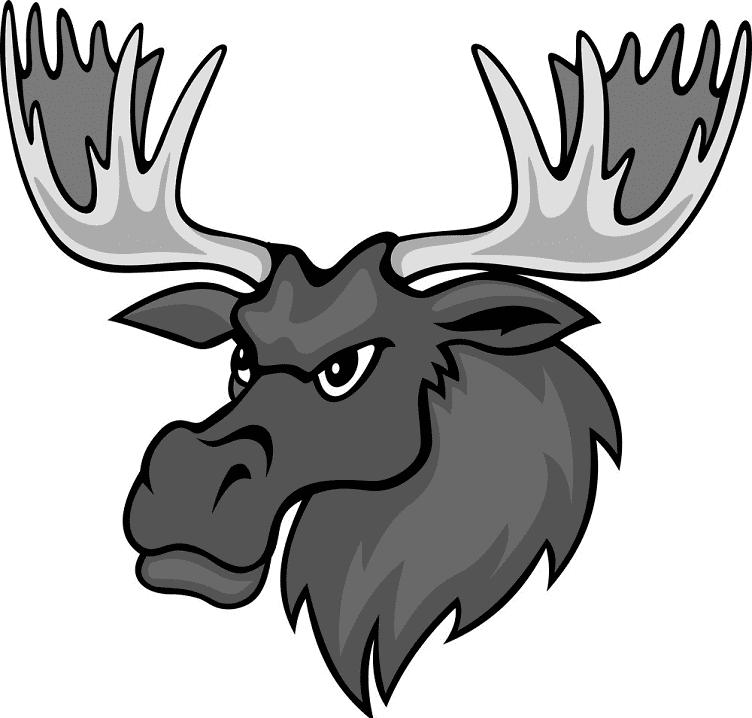 Moose Head clipart 3