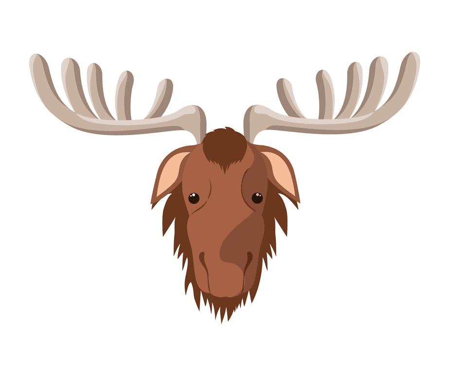 Moose Head clipart 4