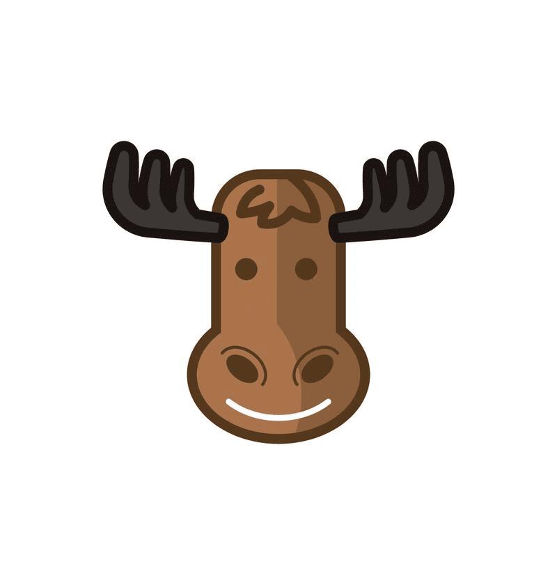 Moose Head clipart 6