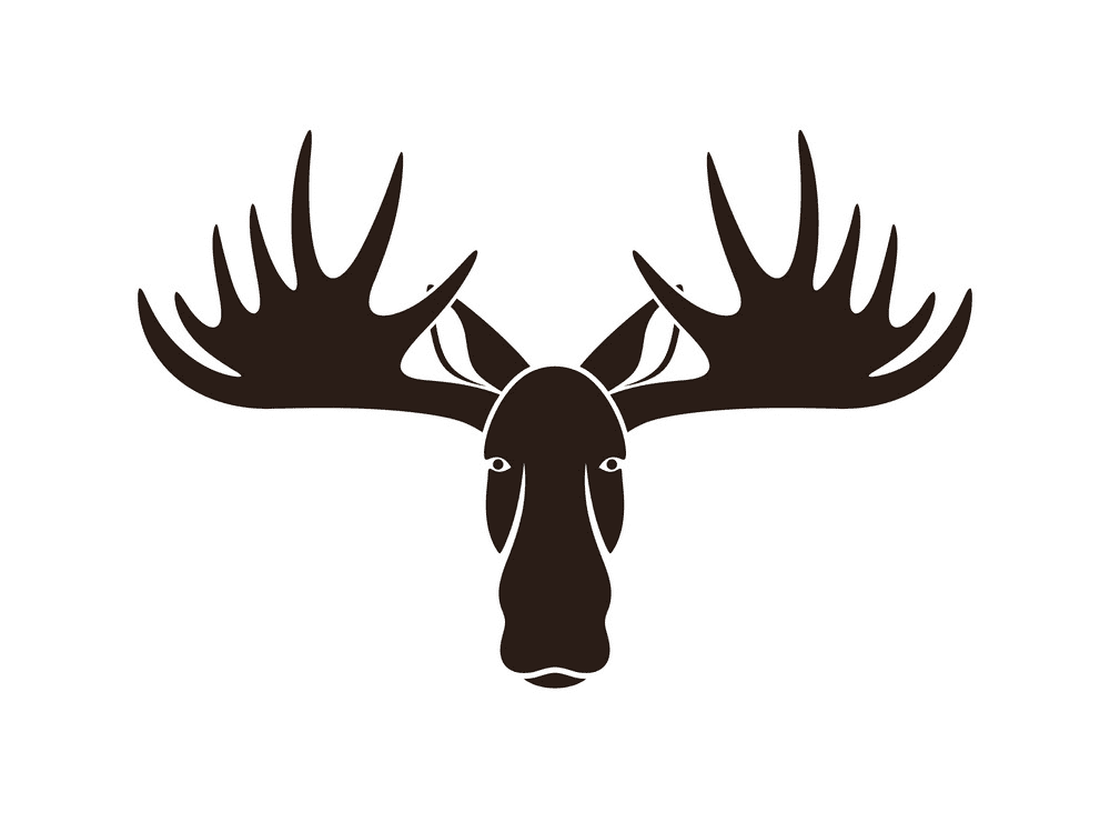 Moose Head clipart 7