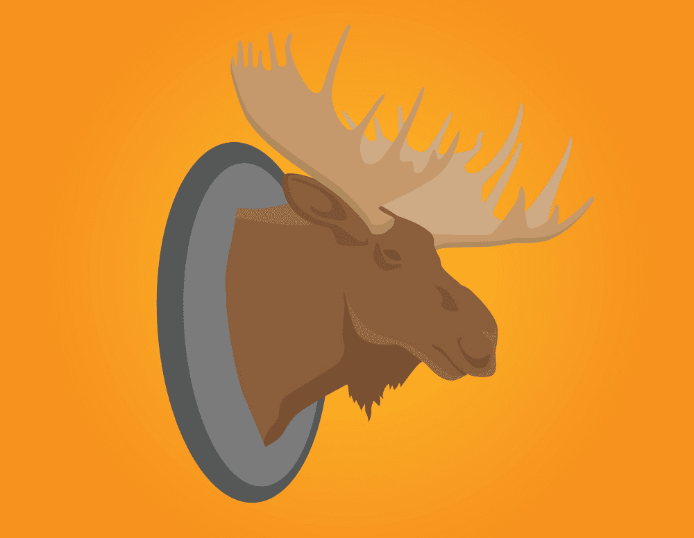 Moose Head clipart for free