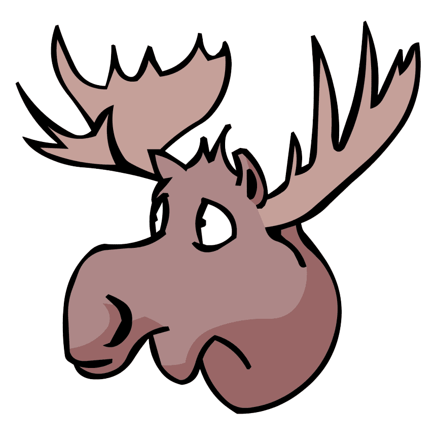 Moose Head clipart image