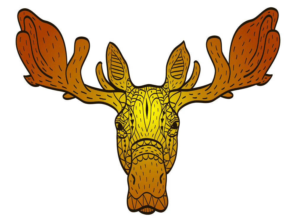 Moose Head clipart images