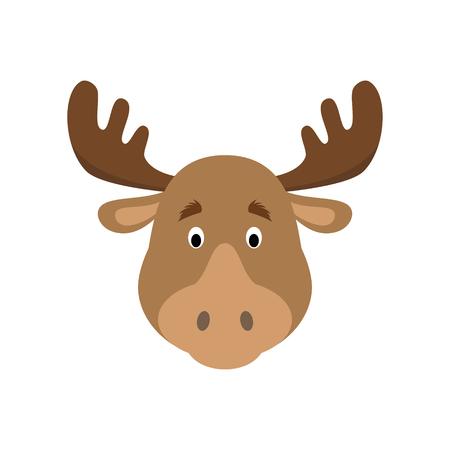 Moose Head clipart