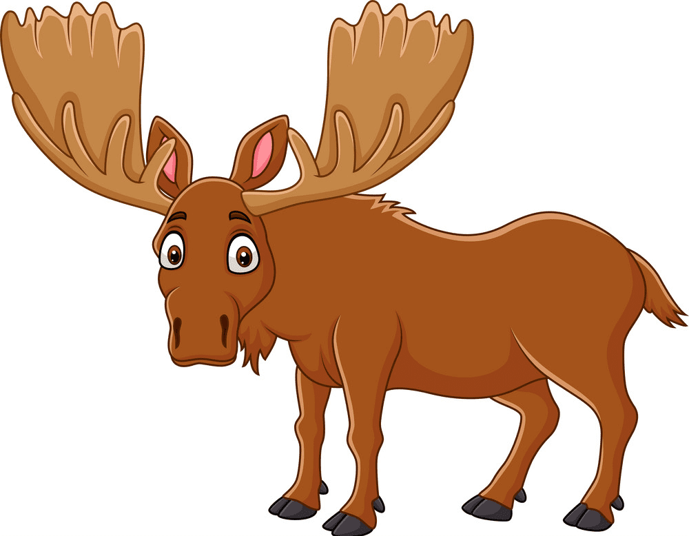 Moose clipart for free