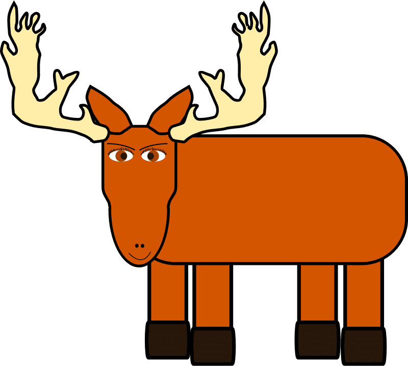 Moose clipart free 10