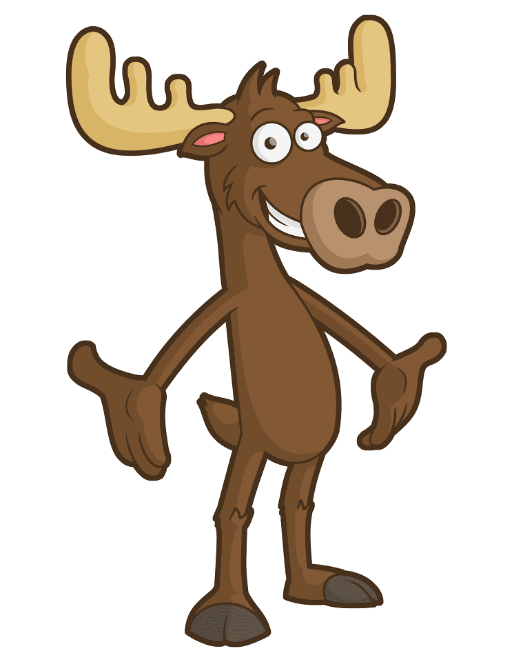 Moose clipart free 7