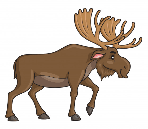 Moose clipart free 8