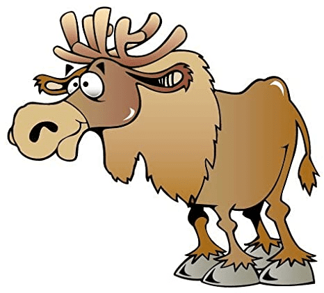 Moose clipart free 9
