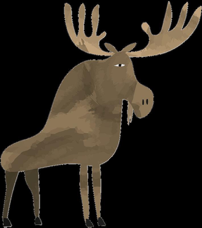 Moose clipart transparent 5