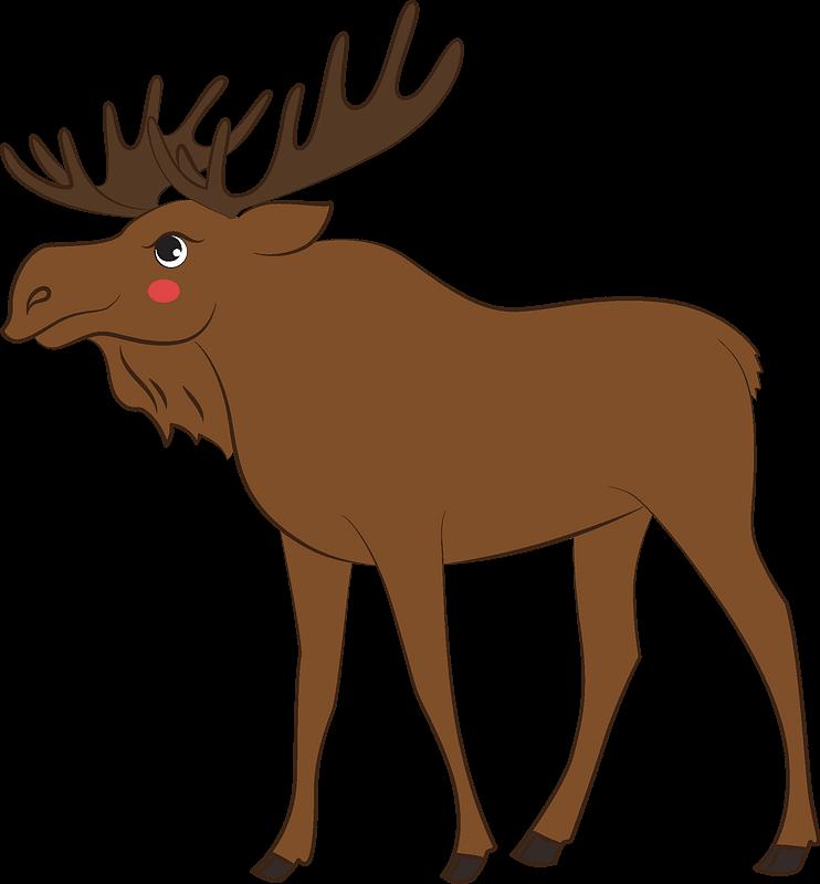 Moose clipart transparent 8