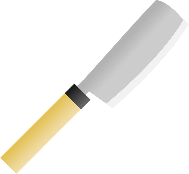 Nakiri Knife clipart transparent background