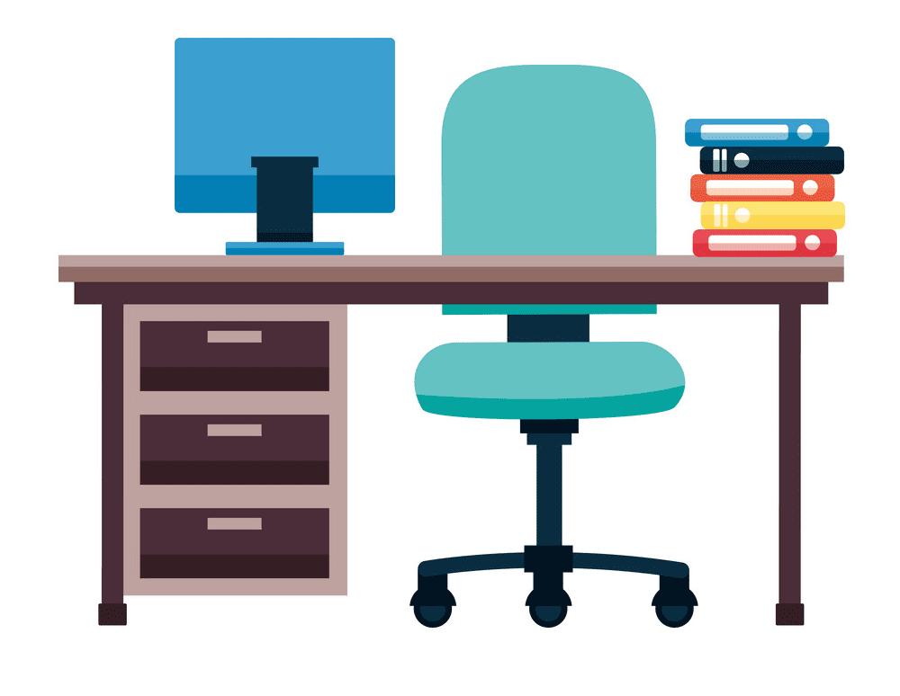 Office Desk clipart image