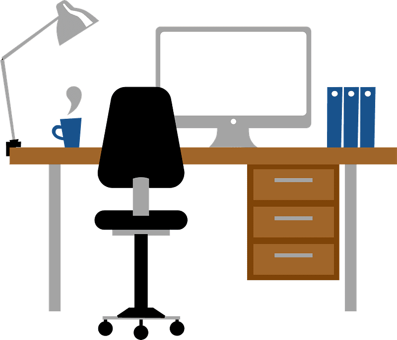 Office Desk clipart transparent 4
