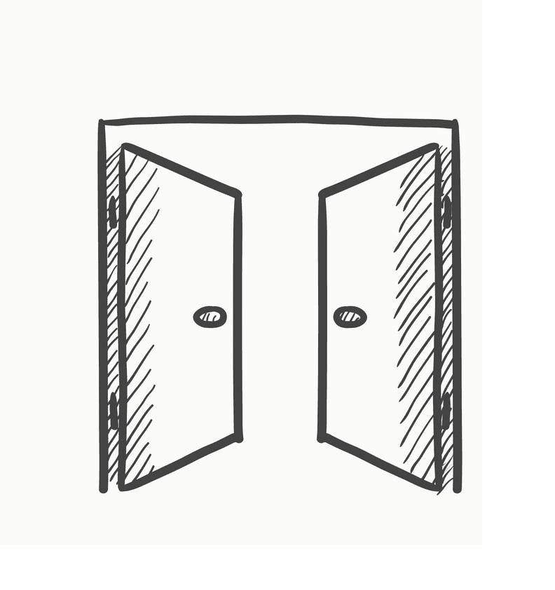 Open Door clipart png image