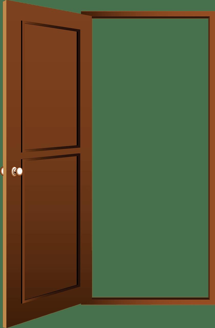 Open Door clipart transparent