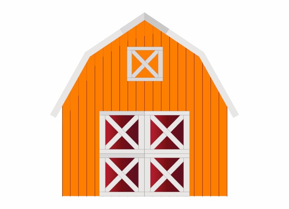 Orange Barn clipart