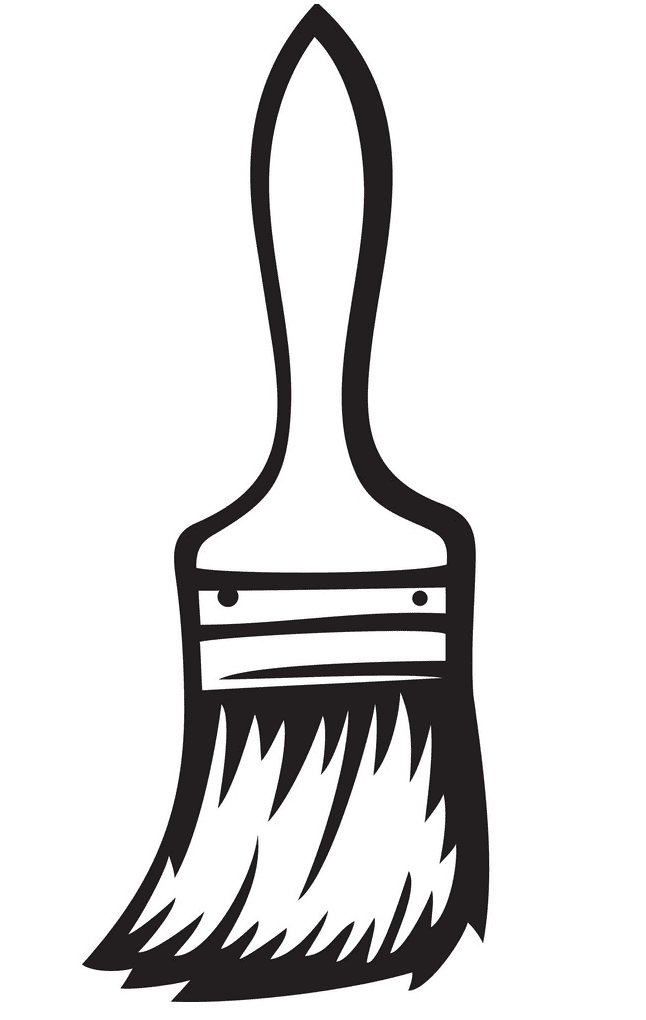 Paintbrush Clipart Black and White png