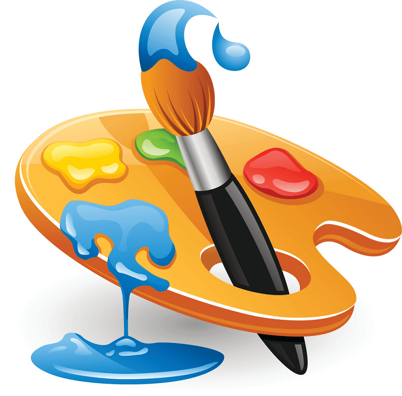Paintbrush and Palette clipart free