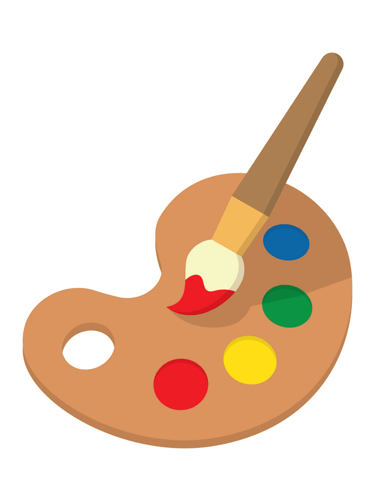 Paintbrush and Palette clipart image