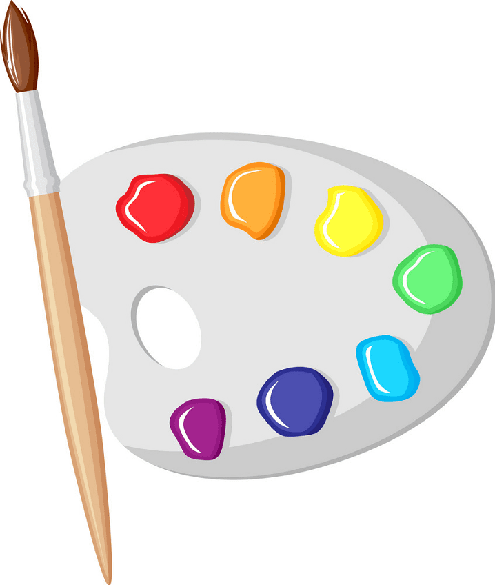 Paintbrush and Palette clipart png