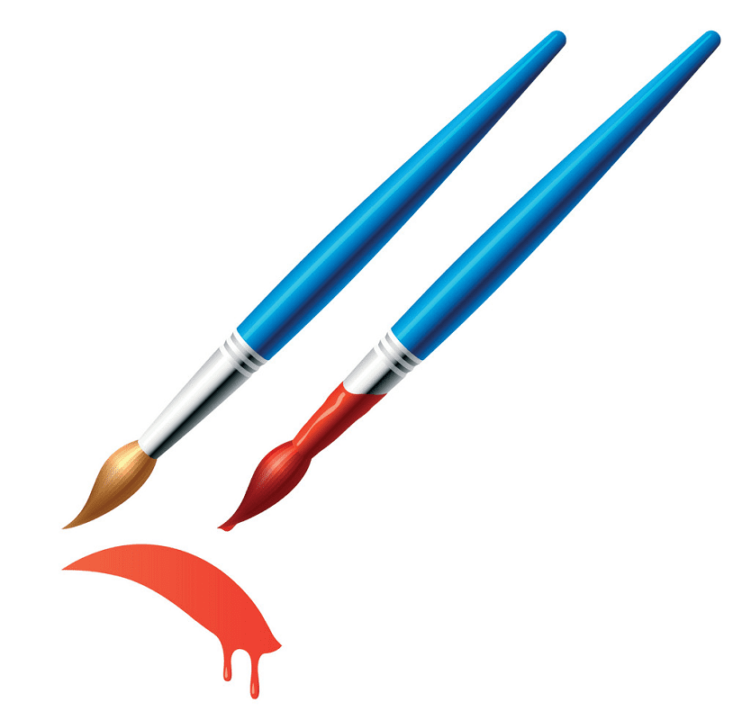 Paintbrush clipart 4