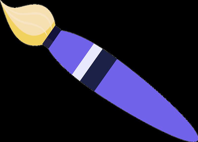 Paintbrush clipart transparent 5