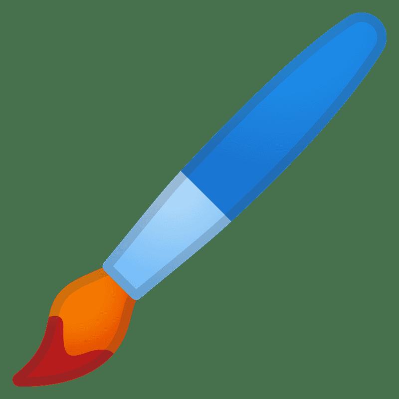 Paintbrush clipart transparent background 3
