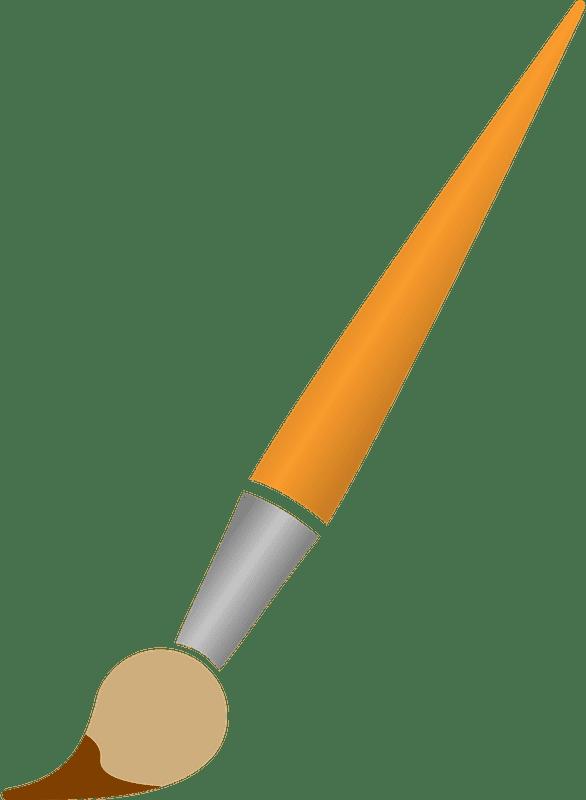 Paintbrush clipart transparent background 5