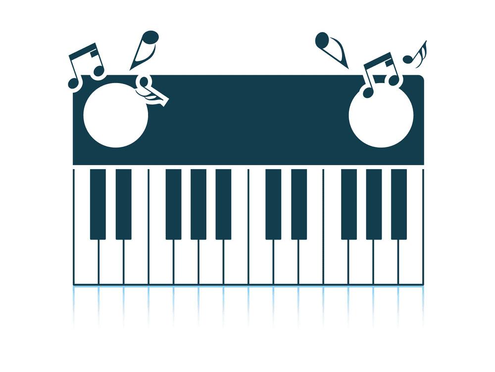 Piano Keyboard clipart 2