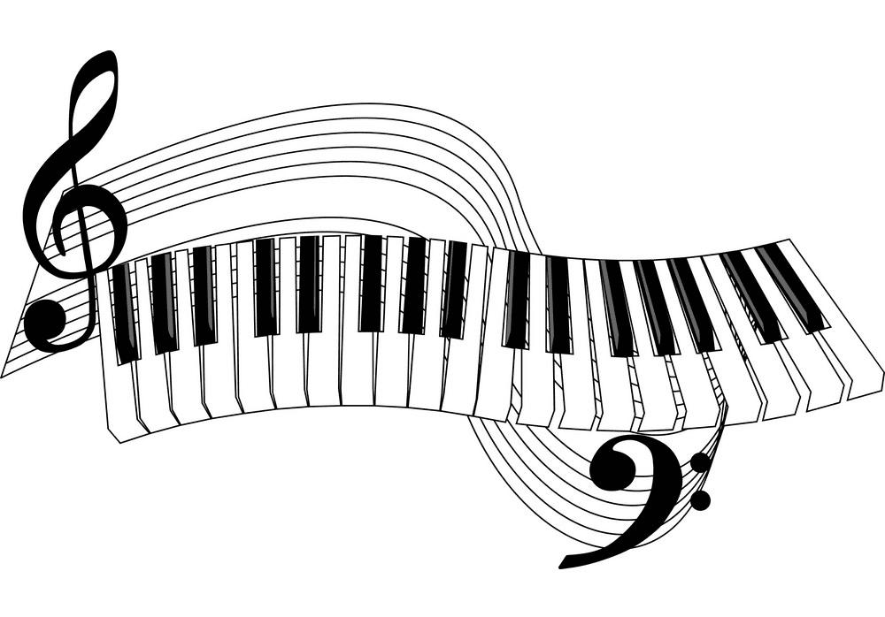 Piano Keyboard clipart 3