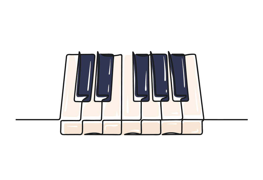 Piano Keyboard clipart 4