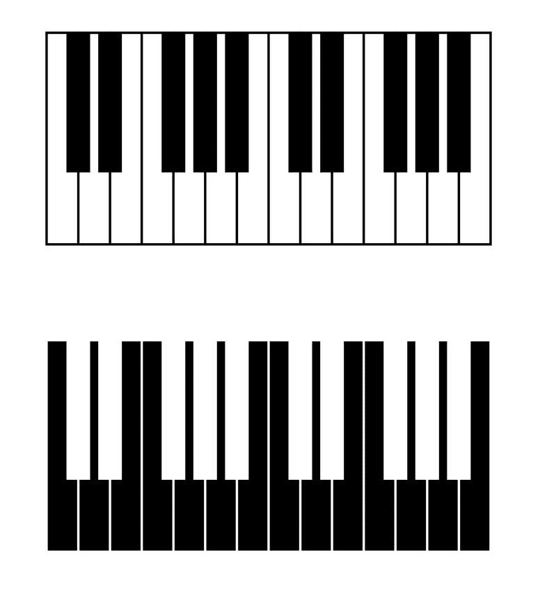 Piano Keyboard clipart 5