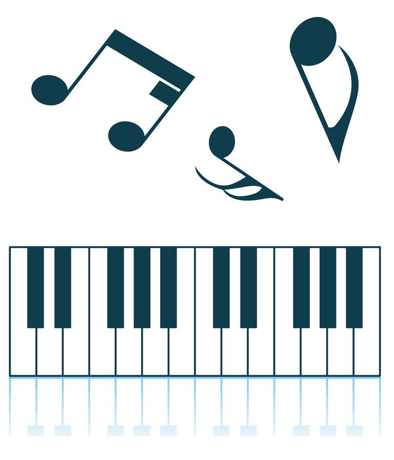 Piano Keyboard clipart 6
