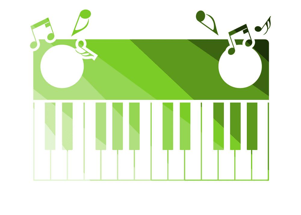 Piano Keyboard clipart 8
