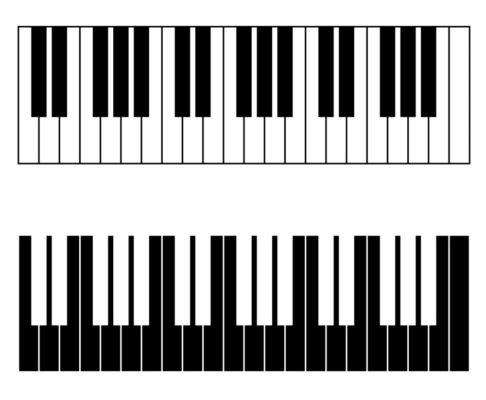 Piano Keyboard clipart free image